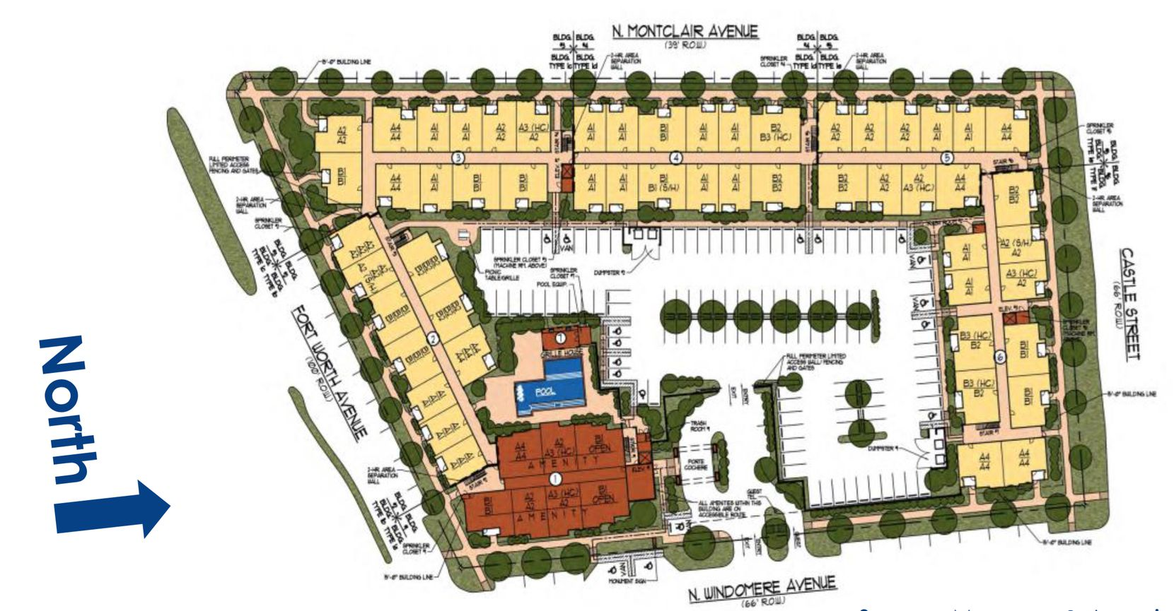 The Villas at Western Hills apartments would be built on Fort Worth Avenue