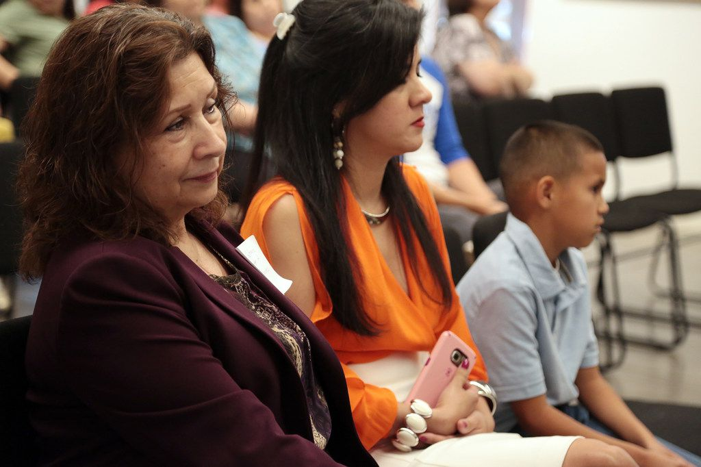 Roberta Gutiérrez, the daughter of World War II hero  Ramón Gutiérrez, attended Dave Gutiérrez's signing for his book, Patriots from the Barrio, at the Latino Cultural Center in Dallas on May 26.