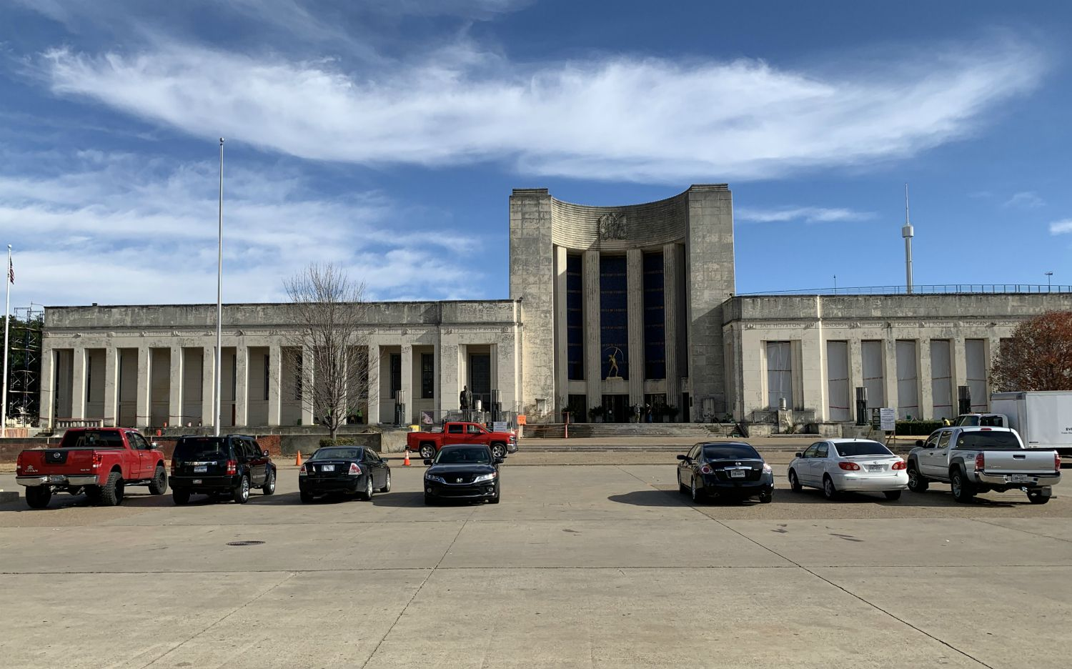 Last week, crews worked on the Fair Park Hall of State, which is in dire need of a restoration that will be funded with $50 million in 2017 bond dollars.
