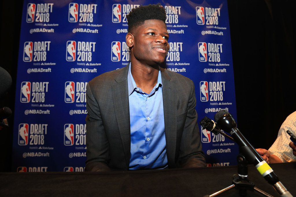 NEW YORK, NY - JUNE 20:  NBA Draft Prospect Mohamed Bamba speaks to the media before the 2018 NBA Draft at the Grand Hyatt New York Grand Central Terminal on June 20, 2018 in New York City. NOTE TO USER: User expressly acknowledges and agrees that, by downloading and or using this photograph, User is consenting to the terms and conditions of the Getty Images License Agreement.  (Photo by Mike Lawrie/Getty Images)