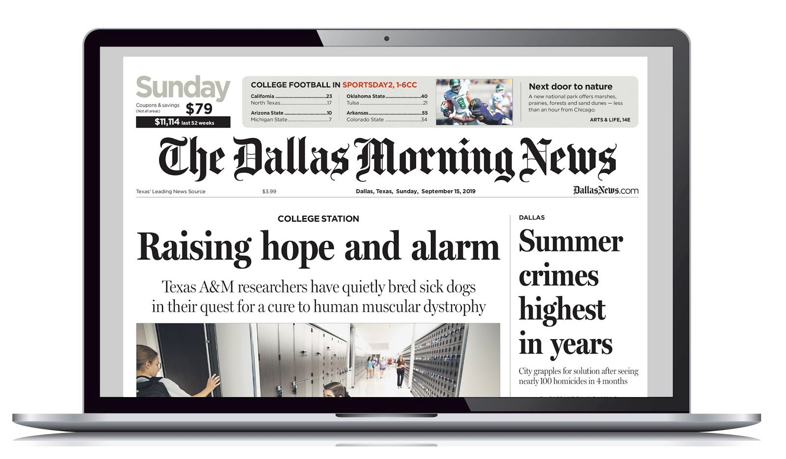 The Dallas Morning News ePaper is available on all laptops and smart phones.