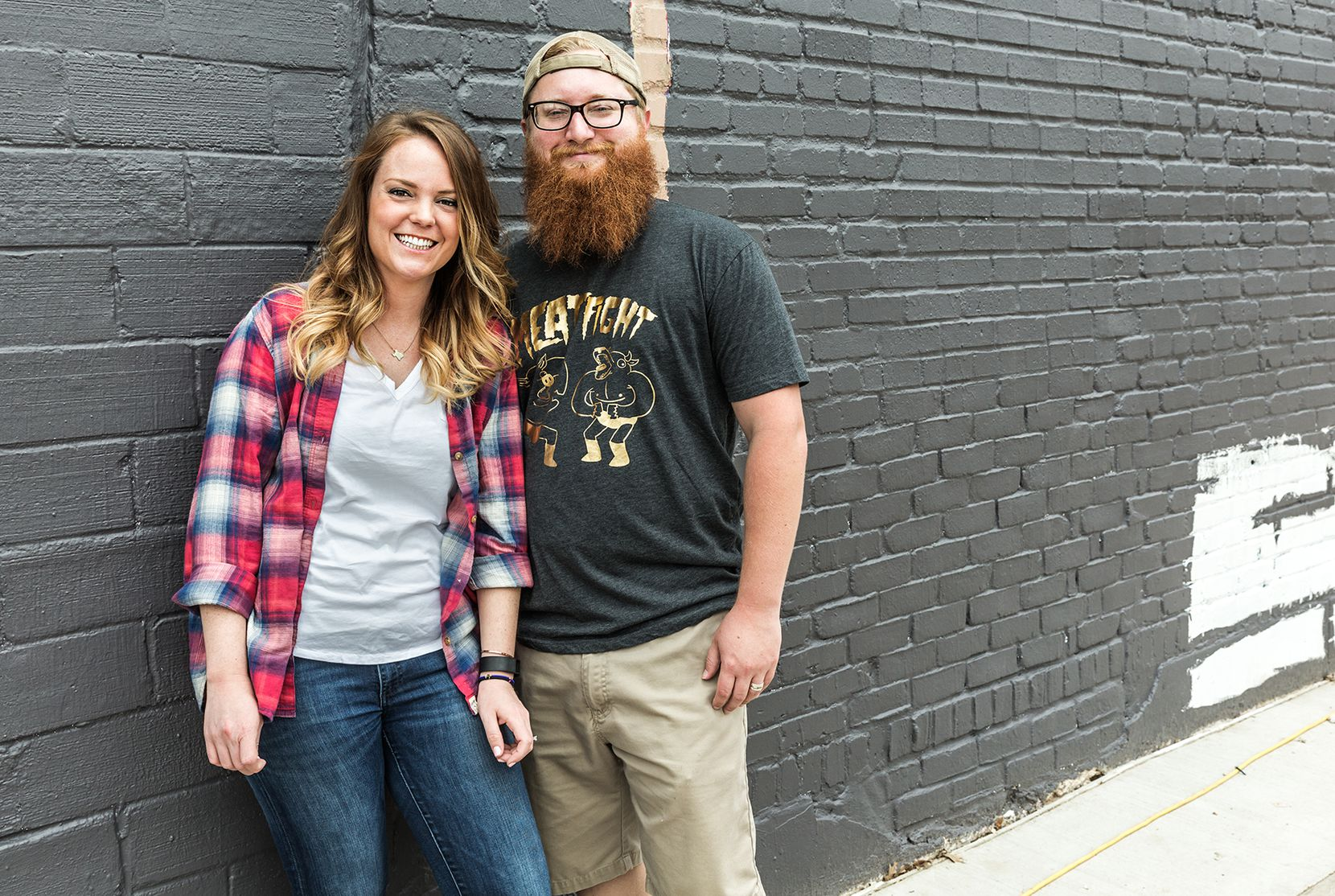 Emma and Travis Heim, 28 and 26, owners of Heim Barbecue and Catering
