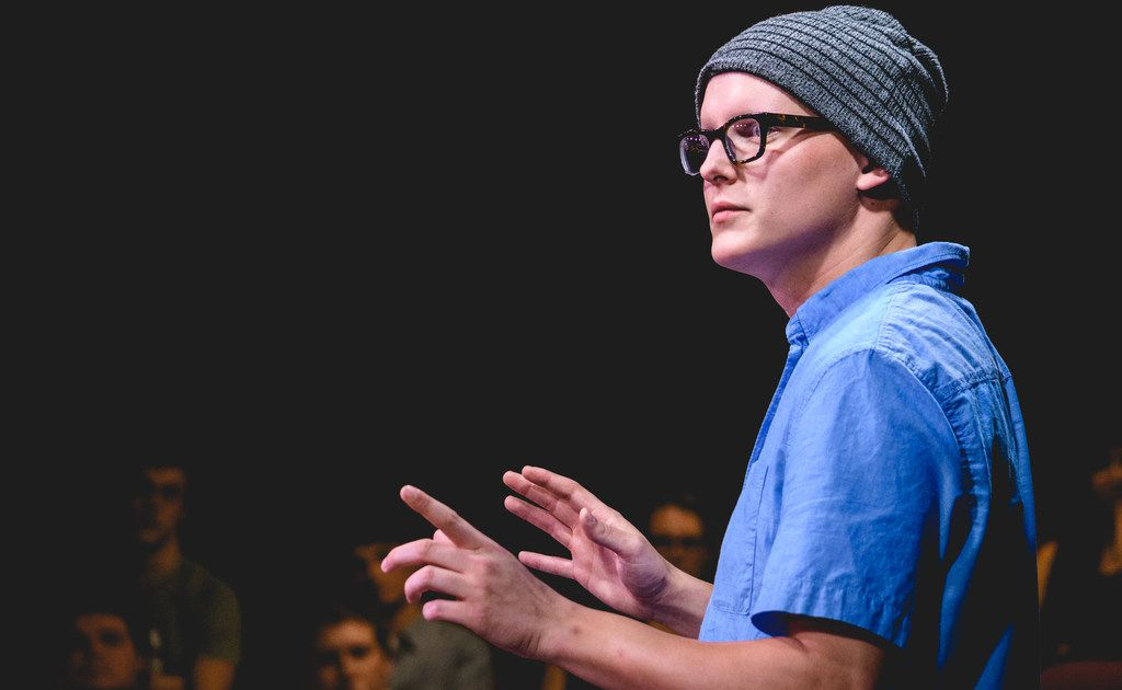 Zak Reynolds performs in  Every Brilliant Thing for Circle Theatre in Fort Worth.