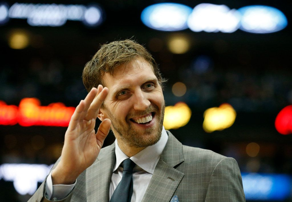 Dirk Nowitzki is hoping to say hello to his 21st season in the near future, but he's still not going to rush his return from ankle surgery.  (AP Photo/Michael Ainsworth)