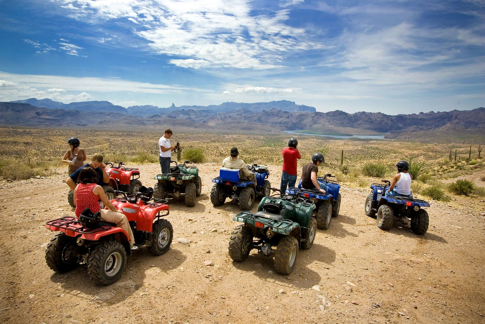 Renting an ATV is a great way to see the desert landscape near Scottsdale, Ariz.