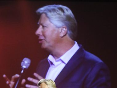 Pastor Robert Morris addresses the audience during a September 2016 event at Gateway Church in Southlake.