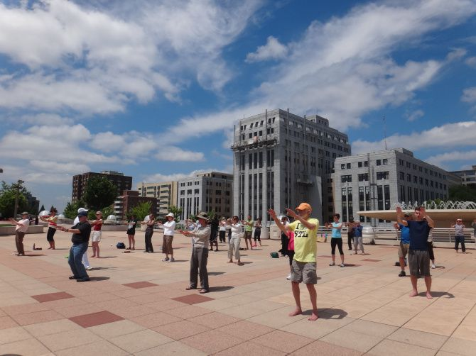 Monona Terrace hosts concerts, children's activities and exercise classes include twice-weekly Tai chi that are free to the public.