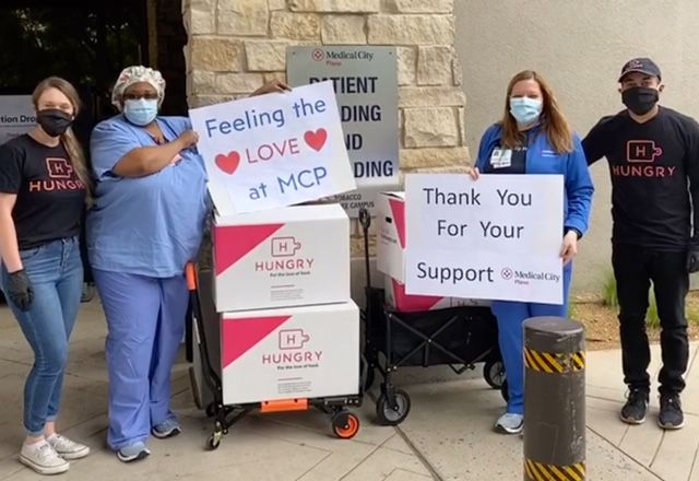 Hungry at Home has delivered meals to Medical City Dallas hospital.