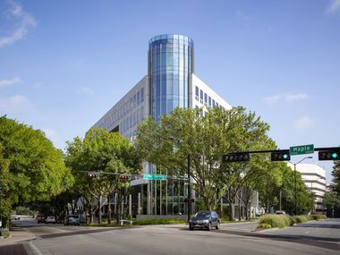 The 2401 Cedar Springs building was given a new look by architect Corgan.