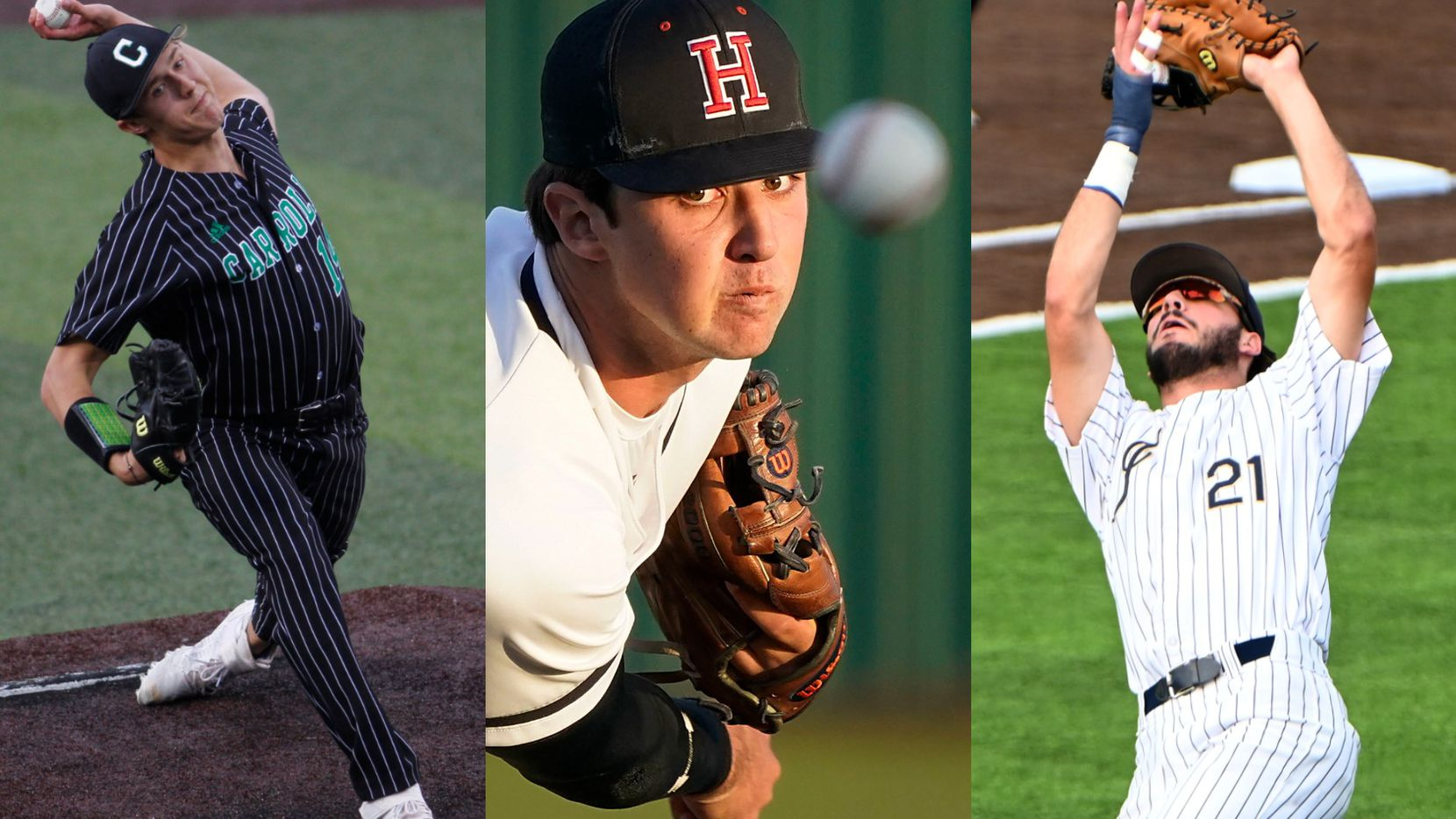 From left to right: Southlake Carroll's Griffin Herring, Rockwall-Heath's Josh Hoover and Keller's Gray Rowlett.