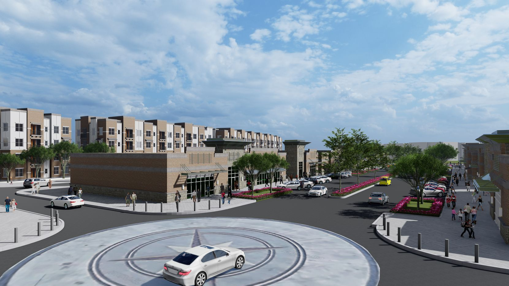 An architect's rendering of Centurion American's City Point project in North Richland Hills.