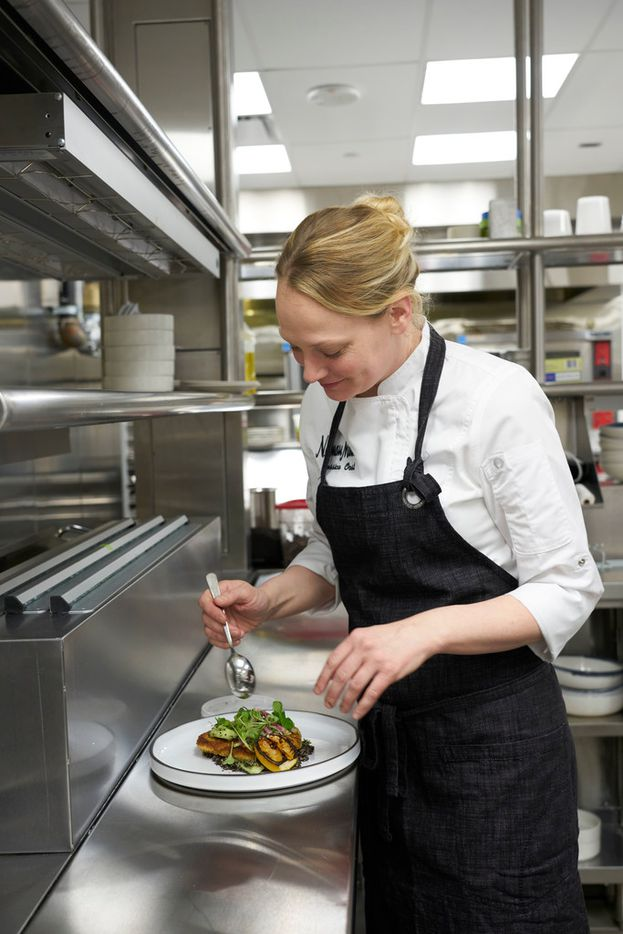 Neiman Marcus corporate chef Jessica Oost in the kitchen of the Zodiac Room.