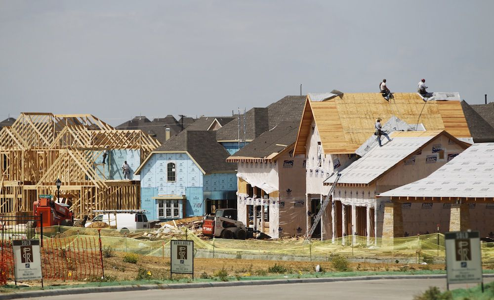 New home starts rose 16 percent in the first quarter from 2016 levels.