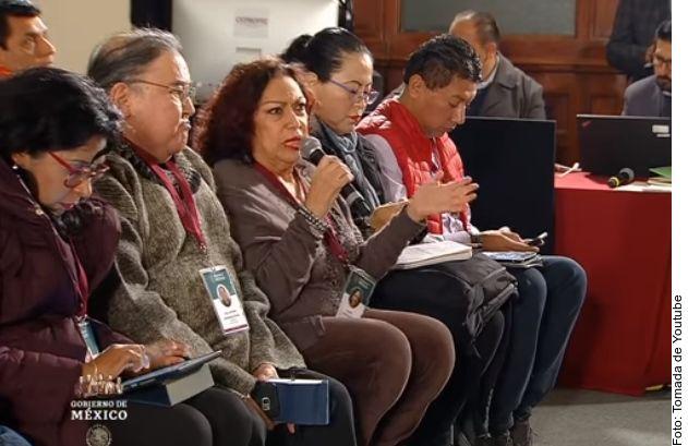 Isabel Arvide durante su intervención en la conferencia mañanera en Palacio Nacional de México el pasado 9 de enero.