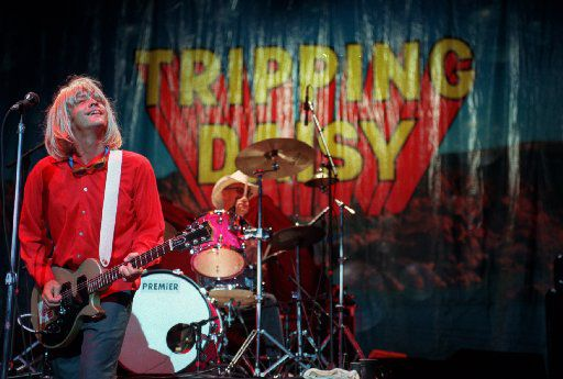 Tripping Daisy in concert at Great Wood Music Center in Boston Mass. opening for Def Leppard. The Dallas band is reuniting in May 2017.