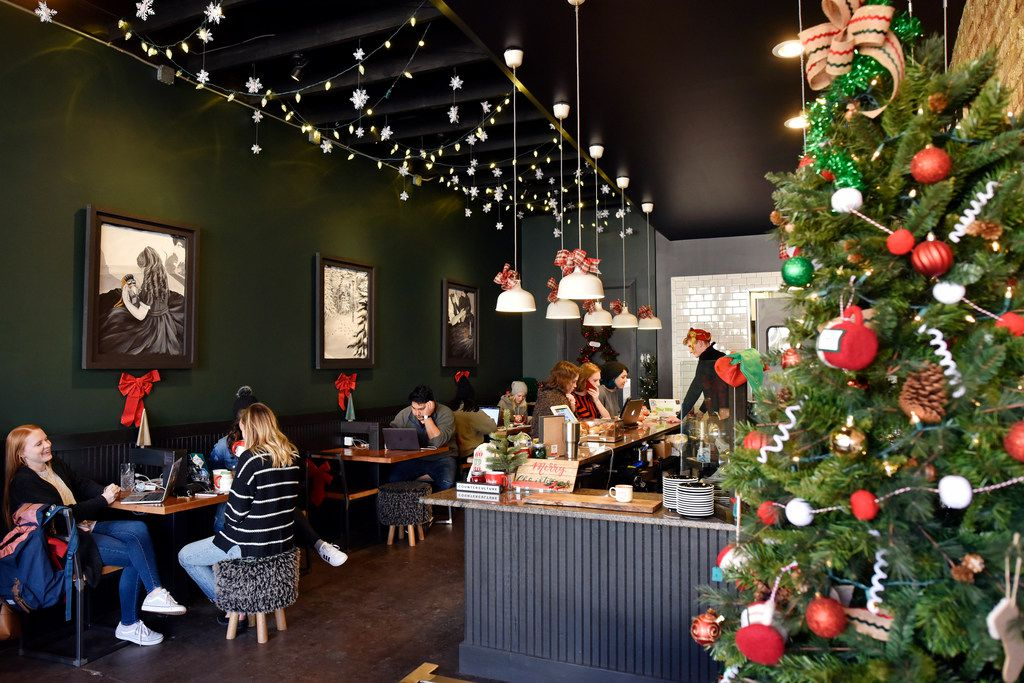Are you in the Christmas spirit? Deck the Hall Street coffee shop is here for this.