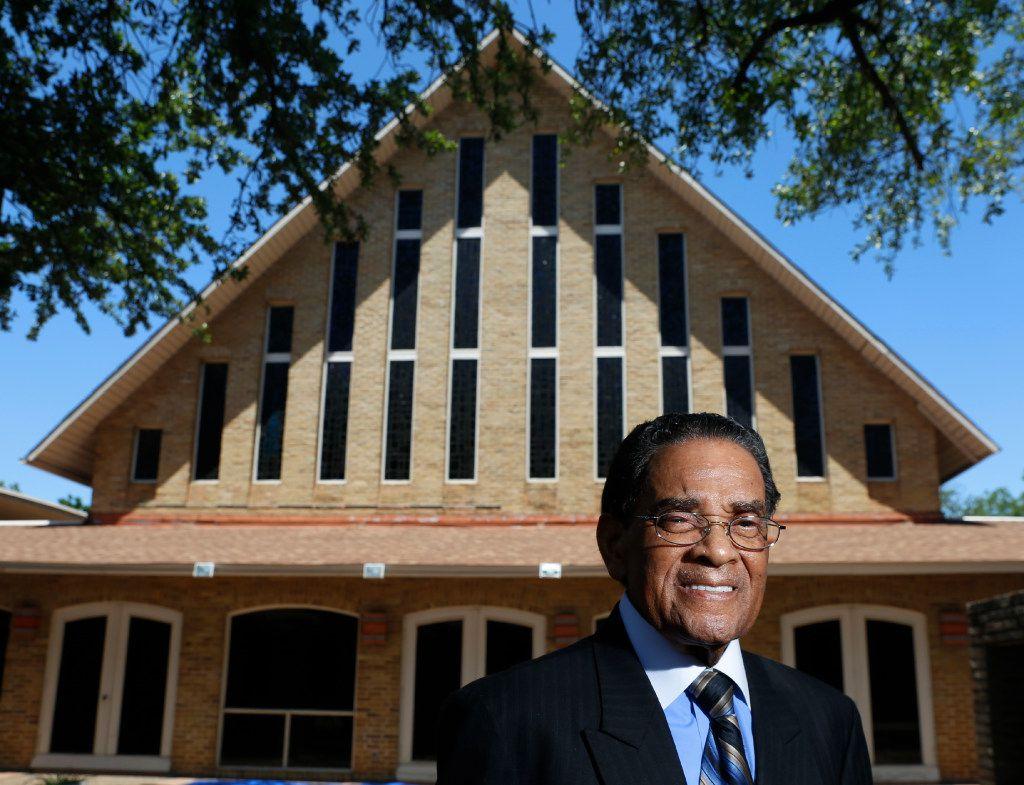 The Rev. Ronald E. Jones at his church, New Hope Baptist Church