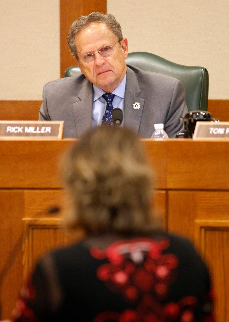 Rep. Rick Miller, shown listening to testimony earlier this year about a Medicaid managed care bill, is being challenged by at least three Republicans and four Democrats in next year's election in House District 26 in Fort Bend County.