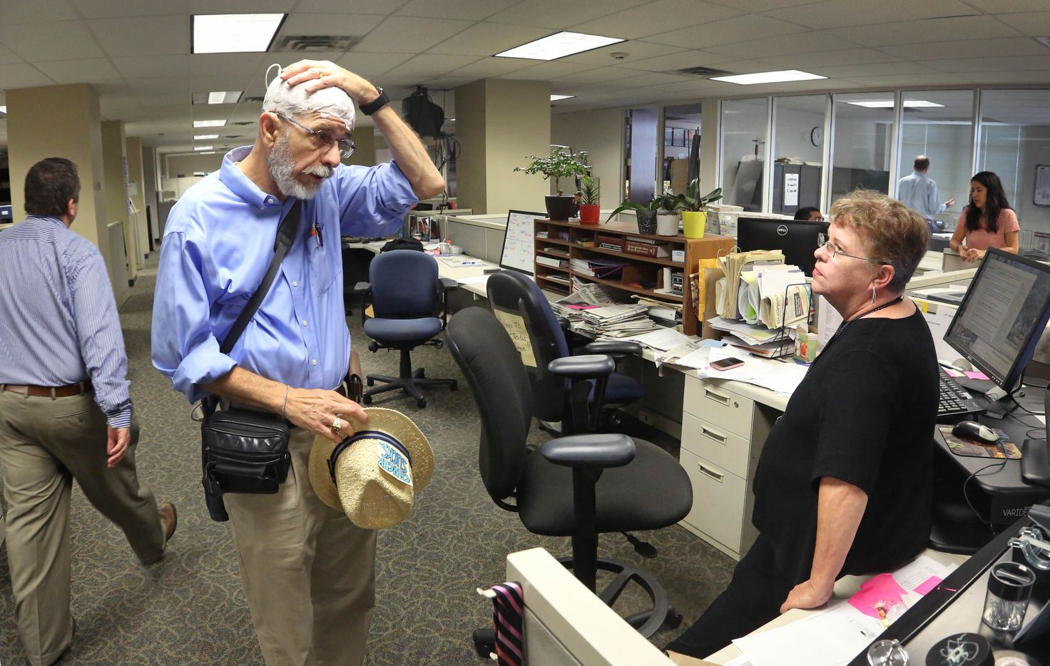Jeffrey Weiss talks with Laura Jacobus, one of the business editors at The Dallas Morning News, about his treatments for brain cancer.