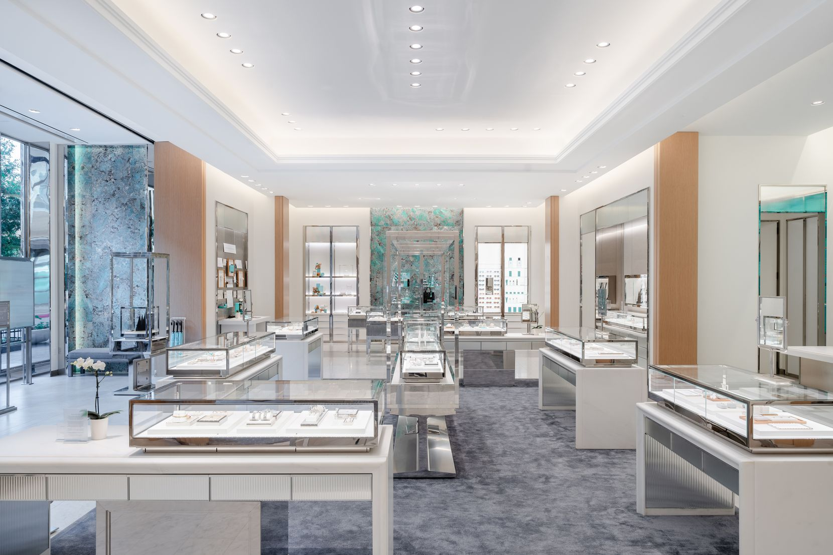Interior of the new Tiffany & Co. store in Plano's Legacy West.