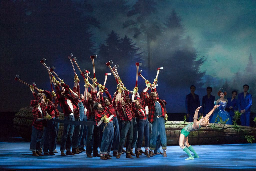 Will Tuckett's epic, effects-laden version of Pinocchio premiered in 2017 at the National Ballet of Canada. Featuring ax-wielding lumberjacks who help free the title character from his birth tree, Texas Ballet Theater is now giving the elaborate production its U.S. debut in Dallas and Fort Worth.