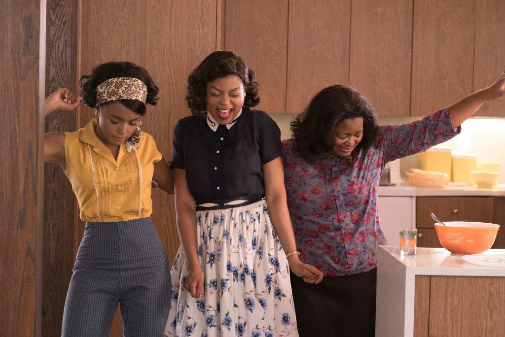 Janelle Monae, from left, Taraji P. Henson and Octavia Spencer in a scene from Hidden Figures.