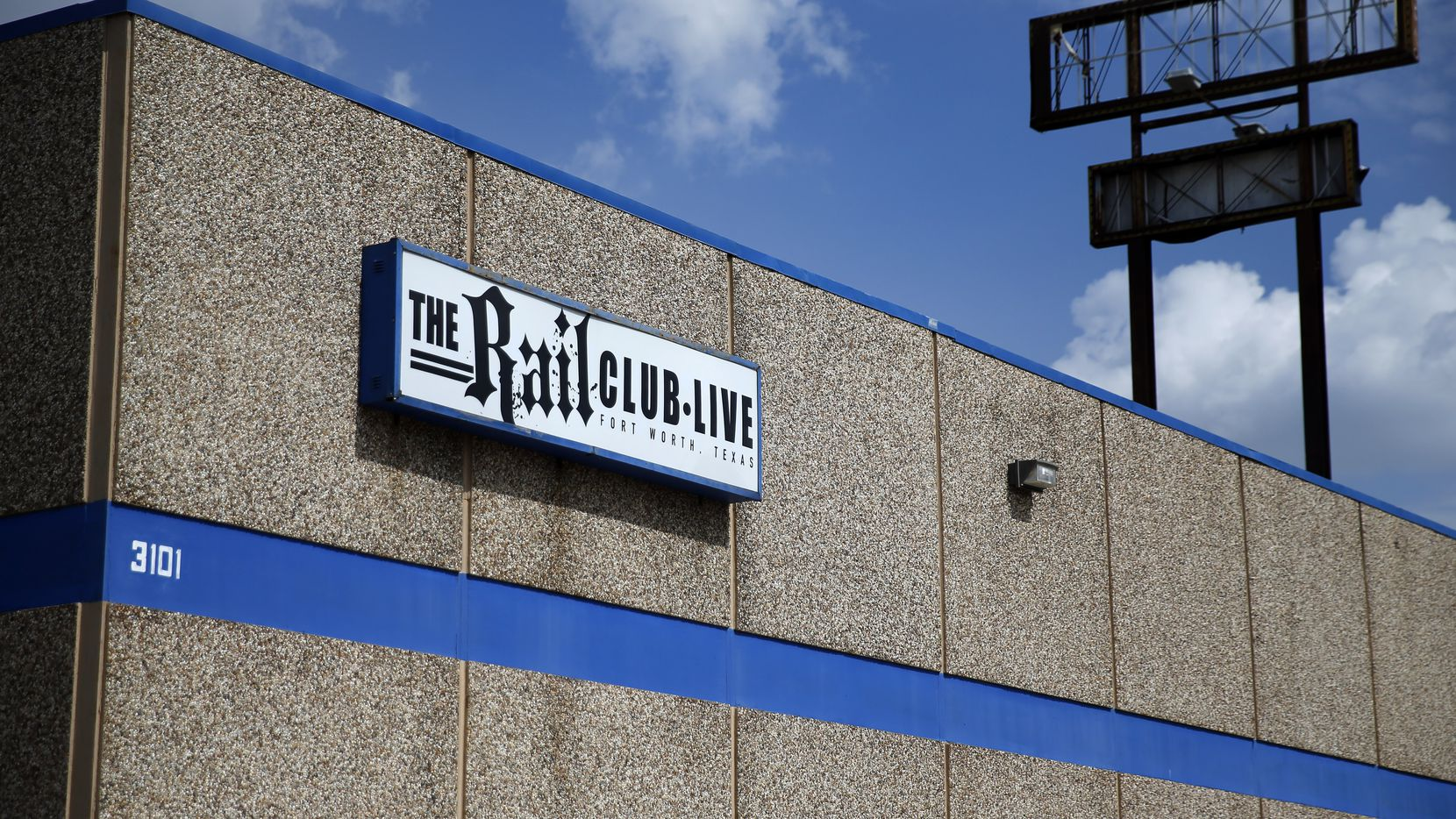 The exterior of the Rail Club Live, a bar and metal music venue in Fort Worth, is pictured on Thursday, July 2, 2020. The venue plans to hold a concert on July 4 dubbed the Rail Club Tea Party, despite Gov. Greg Abbott's order amid the surge in coronavirus cases that Texas bars remain closed.