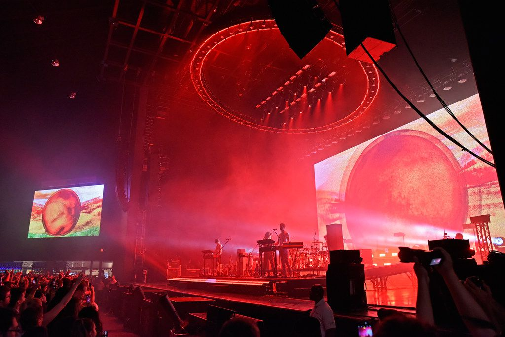 Tame Impala performs at the Toyota Music Factory in Irving, Wednesday Oct. 02, 2019.