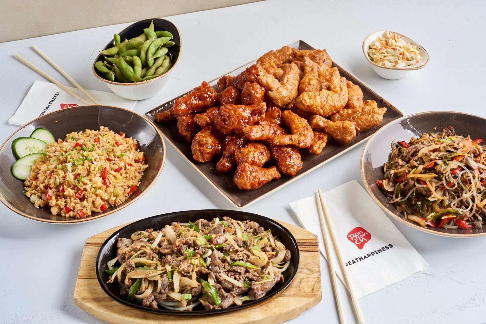 Beyond chicken wings, Bonchon sells other Korean dishes.