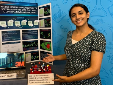 Anika Chebrolu, a freshman at Frisco's Independence High School, was named the winner of the 3M Young Scientist Challenge for her research into a potential treatment for COVID-19.