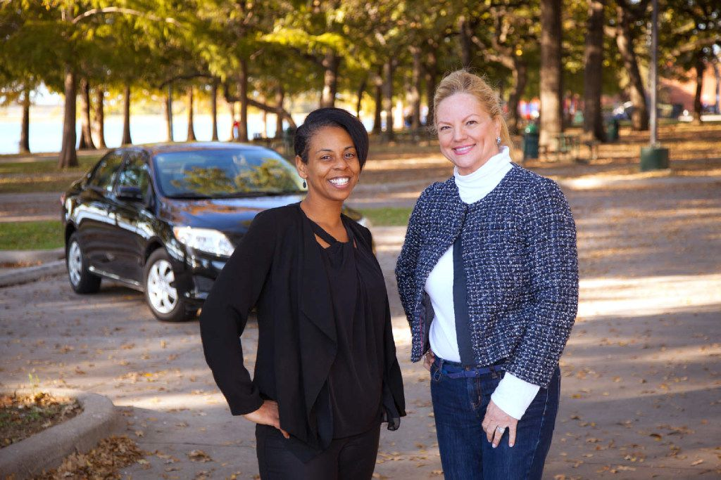 Erica Griffin, an On The Road Lending client, with Michelle Corson, founder of On the Road Lending.