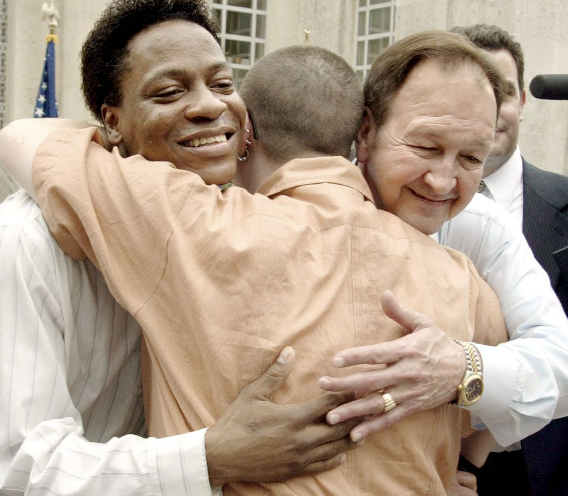 Tyron Garner (left) and John Lawrence  were plaintiffs in the U.S. Supreme Court decision that declared the Texas sodomy law unconstitutional.