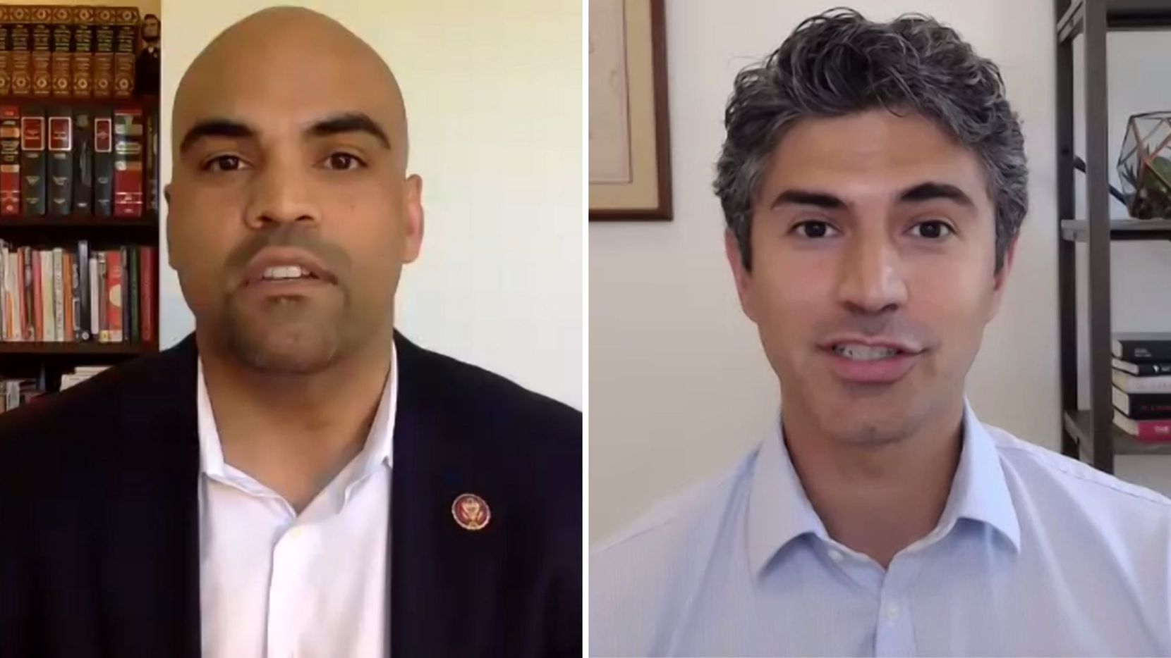 Rep. Colin Allred joins Hesam Hosseini for a Match employee town hall discussion Monday. Allred fielded questions from Dallas-based Match staff on the COVID-19 pandemic, police reform and how to get involved in efforts to see political change.