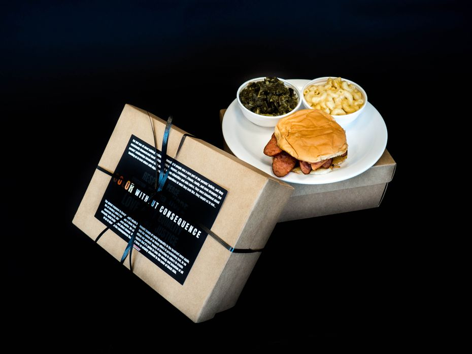 Smokey John's Bar-B-Que & Home Cooking in Dallas is selling shoebox lunches for $12.50. They'll be for sale from June 19, 2020, or Juneteenth, through July 4, 2020.