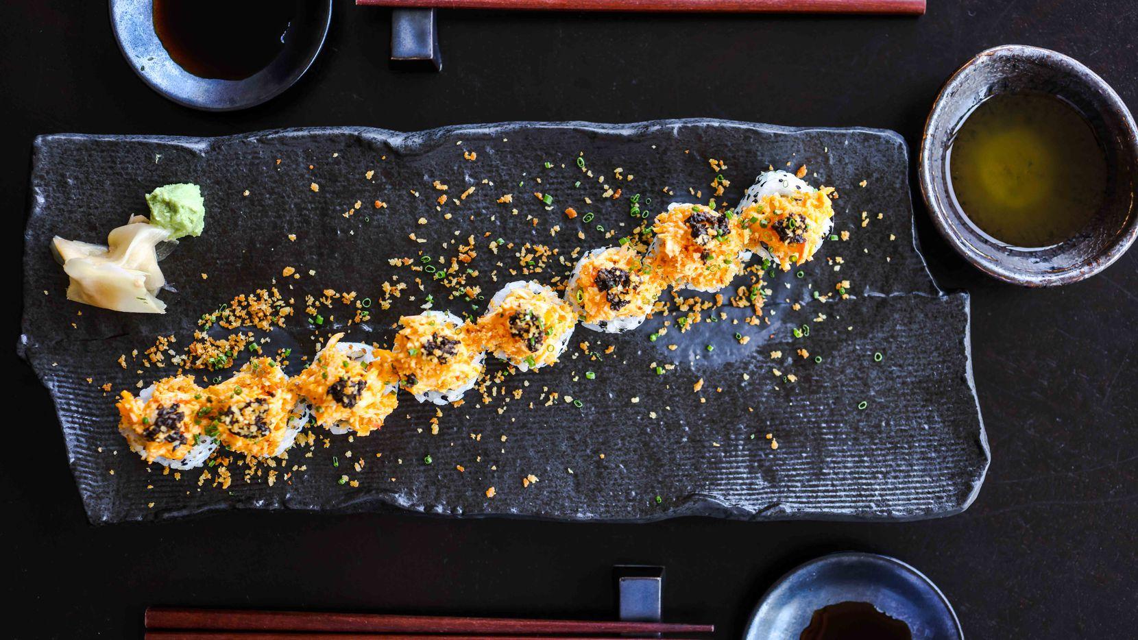 King Crab Roll by chef David Tran at Kessaku in Dallas