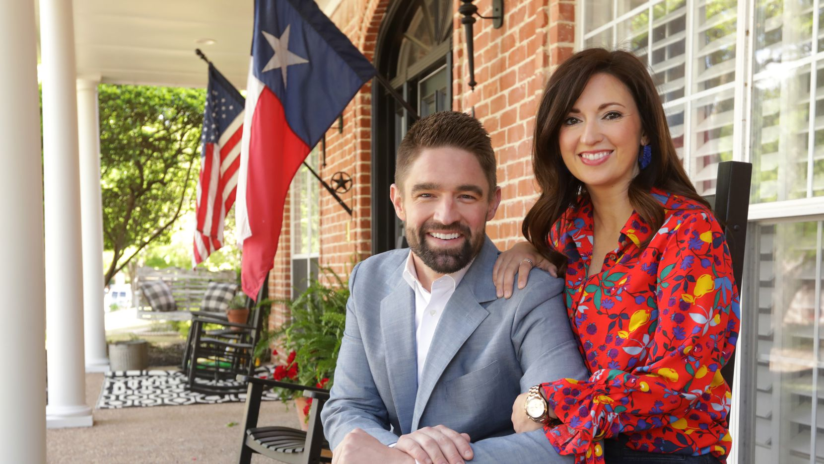 State Rep. Jeff Leach, R-Plano, and his wife, Becky, at their home. During legislative testimony in Austin earlier this spring, Becky Leach spoke about surviving years of sexual abuse as a child.