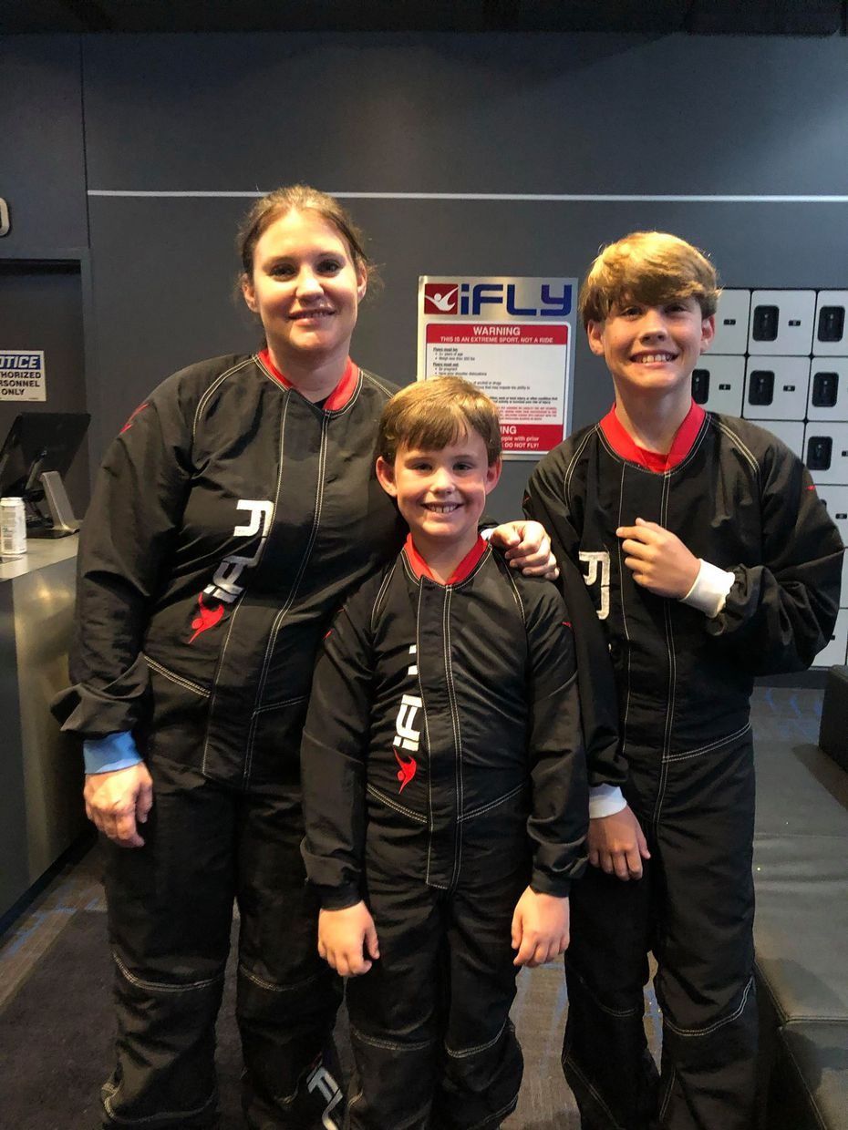 Elizabeth Schonfeld and her sons, Charlie and Noah Schoenfeld