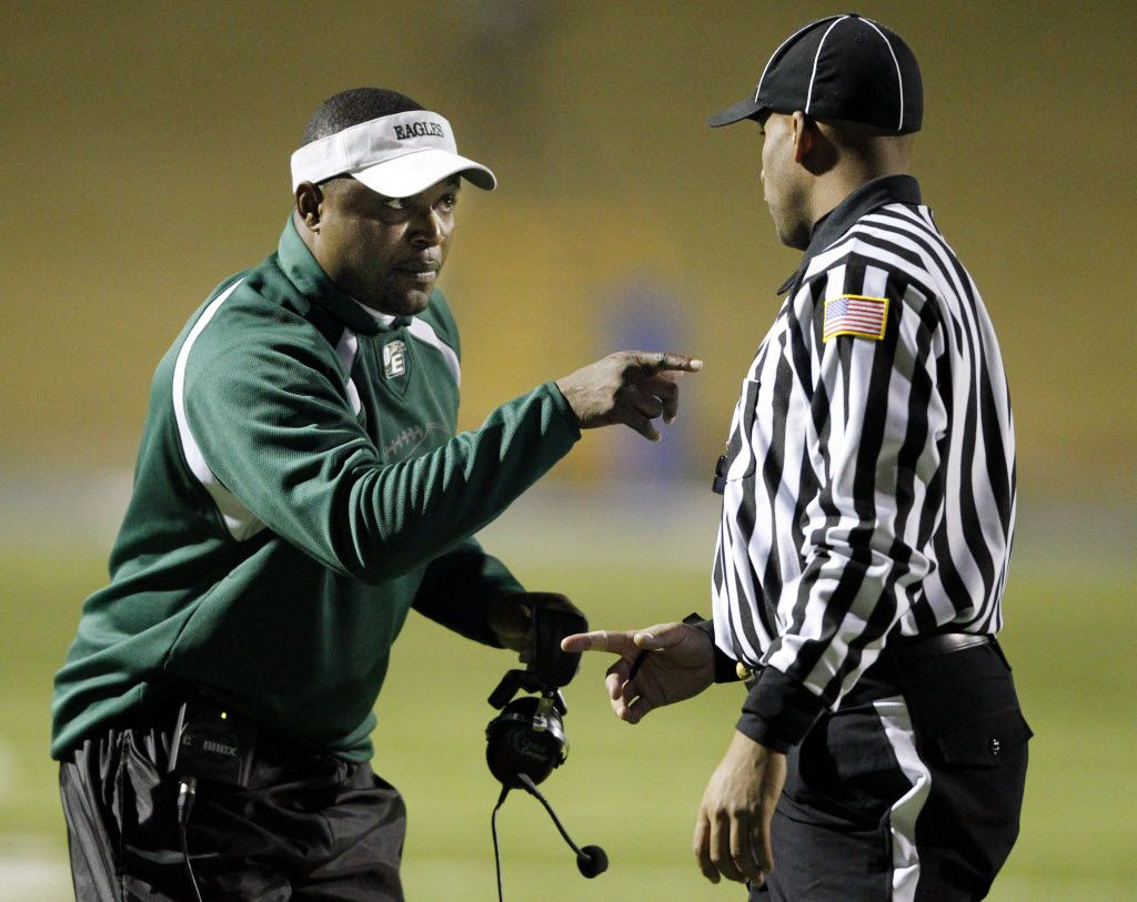 Claude Mathis, who coached DeSoto from 2008 to 2014, is set to return to the Eagles helm for the 2019 season.  (John F. Rhodes / The Dallas Morning News)