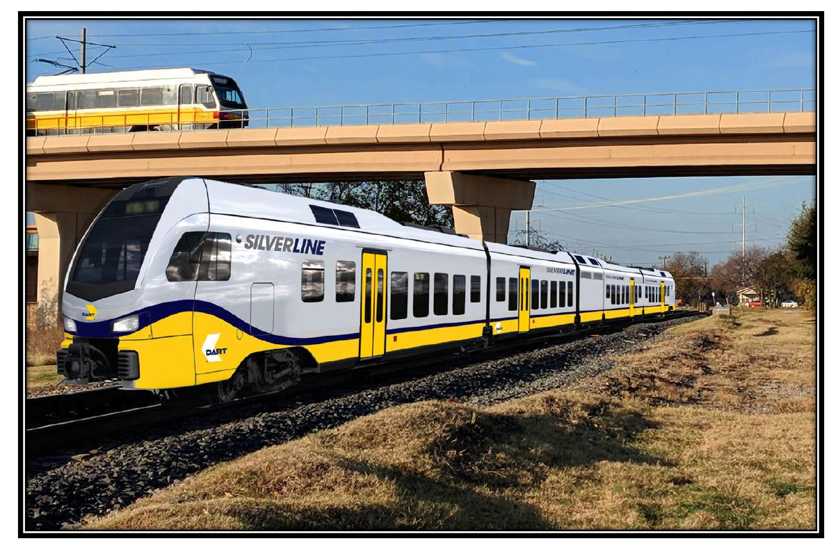 Artist's rendition of the DART Silver Line.
