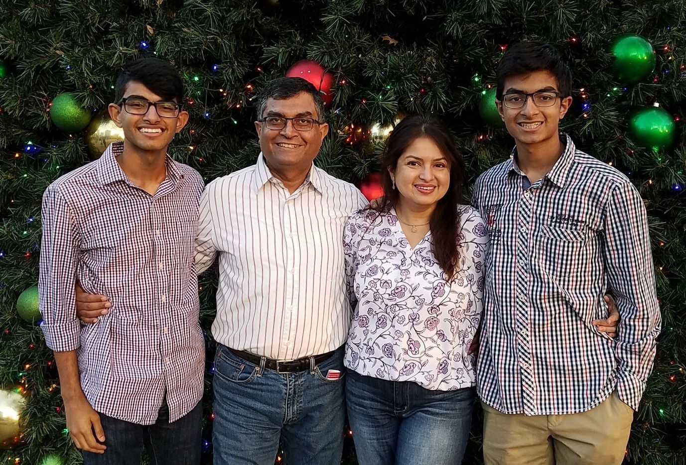"""Amit (from left), Andy, Rani and Dave Banerjee are a family of givers. """"You don't have to be rich or old to be a philanthropist,"""" Amit Banerjee says. """"You just have to care."""""""