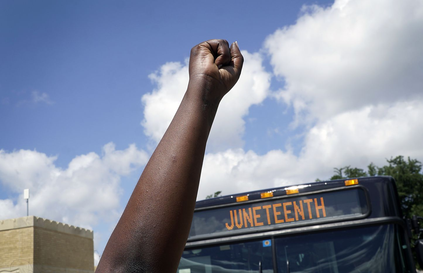 Hundreds of people participated in a parade in Fort Worth as 93-year old activist Opal Lee marched 2.5 miles as part of her campaign to make Juneteenth a national holiday on Friday, June 19, 2020. The march started at the convention center  downtown and ended at Will Rogers Coliseum.