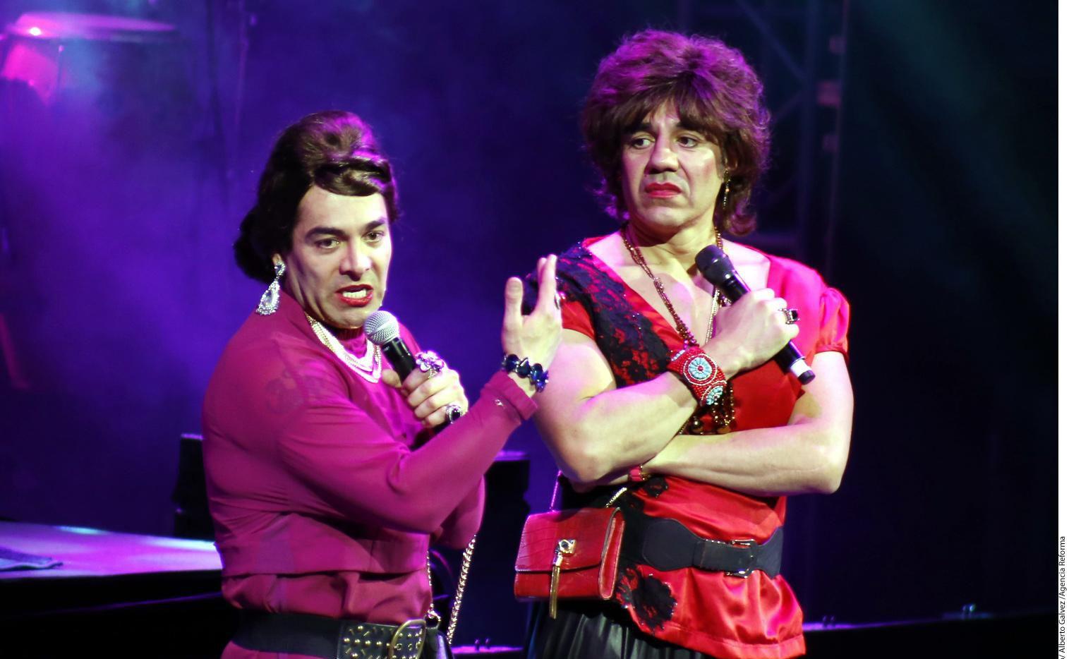 """La pareja de cómicos, Adrián Uribe (der.) y Ómar Chaparro realiza por Estados Unidos su gira """"Imparables"""".(AGENCIA REFORMA)"""
