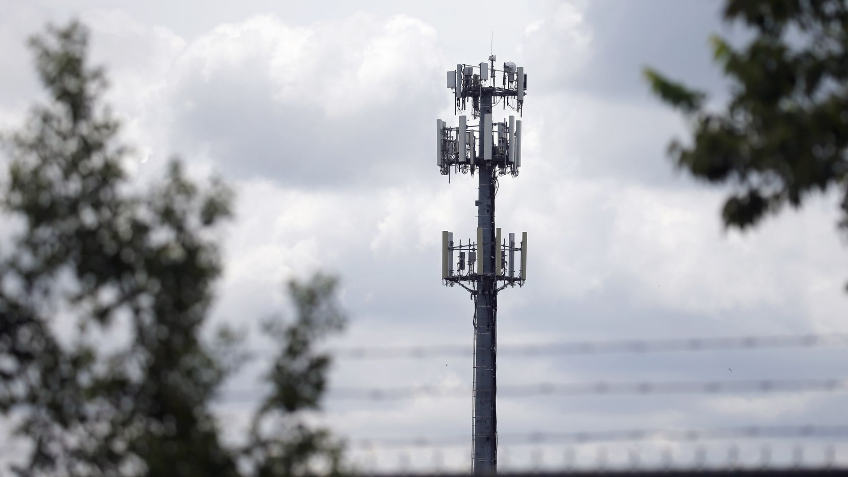 This cell tower on Bridge Street in Fort Worth on Tuesday was one of dozens of towers across Texas that suddenly went off line, from Fort Worth to Houston to Abilene.