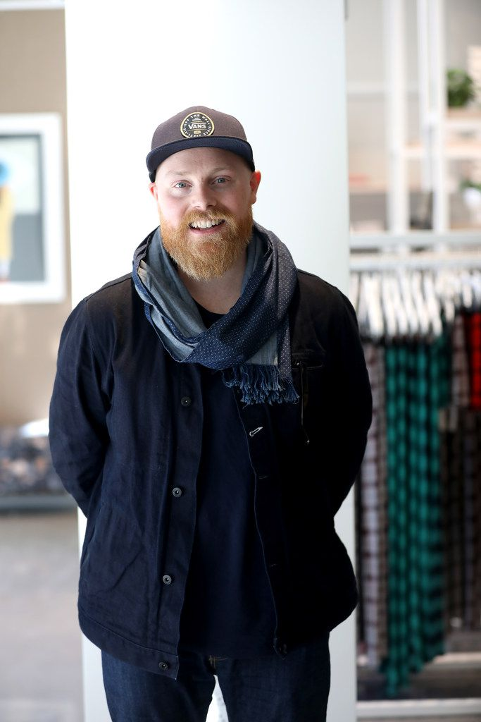 Matt Alexander, co-founder of Neighborhood Goods, is shown at the store in Legacy West.