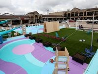 An overview of The Park at Forest-Audelia, a pop-up park in a strip mall in Dallas. (Anja Schlein/Special Contributor)
