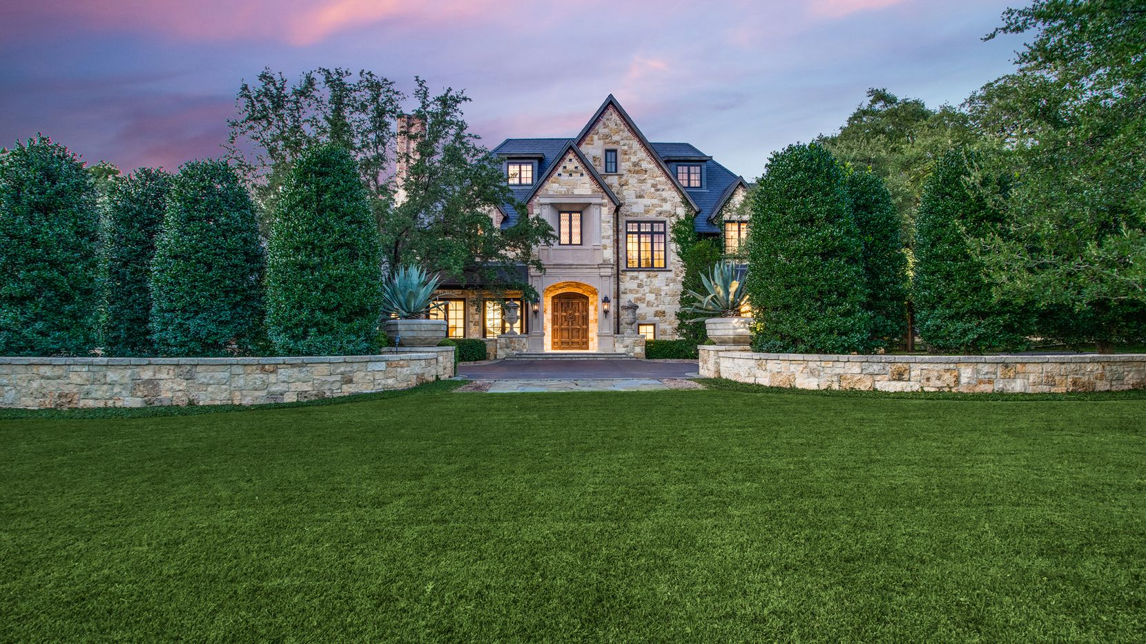 The six-bedroom estate at 5031 Deloache Ave. is situated on almost 2 acres in Preston Hollow.