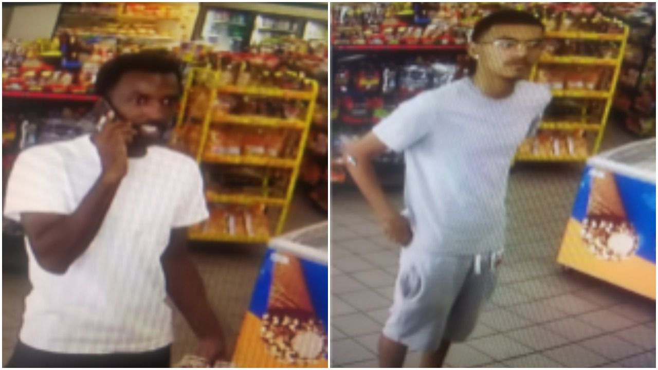 Dallas police believe the two men pictured above stole more than $3,000 worth of gas from a Dallas gas station.