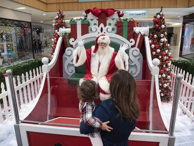 Christmas at Galleria Dallas includes a no-touch Santa Claus photo-op, a Snow Day interactive experience and the Galleria Christmas tree that towers above the ice rink.