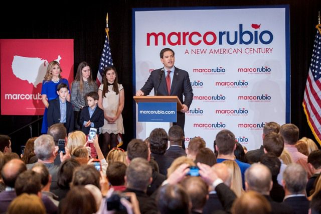 Marco Rubio espera aglutinar a los moderados de su partido.
