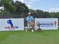 Preston Stout of Richardson shot a 1-over 72 to complete his wire-to-wire victory in the Veritex Bank Byron Nelson Junior Championship. The Richardson Pearce junior finished with a 6-under 207 total to win by two shots over Jase Summy of Keller.